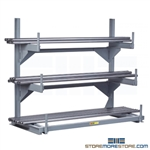Horizontal Pipe Rack Bar Stock Storage Lumber Cantilever Shelf Arms Little Giant