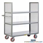 Tall Heavy-Duty Shelving Cart Rolling Rack Trolley Warehouse Picking Truck