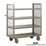 Material Handling Shelf Cart Picking Dolly Truck Warehouse Picker Dolly