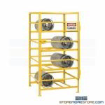 Propane Tank Security Rack Cylinder Storage Shelves Locking Door Bottles