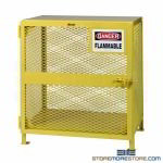 Mesh Cabinet for Small Gas Tanks Storing Cylinders Expanded Metal Enclosed Rack