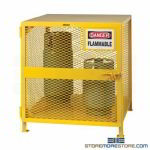 Storage Cabinet for Short Gas Cylinders Locking Rack OSHA 1910 NFPA Little Giant
