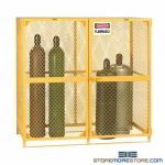 Storage Cage for Gas Cylinders Tank Rack Locking Door Cabinet Ventilated OSHA