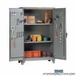 Pegboard Maintenance Shelf Cabinets Storage Heavy-Duty Industrial Welded Steel