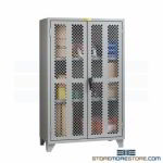 Diamond Perforated Door Cabinet Airflow Security Visible Inspection Materials