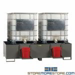 Drum Dispensing Containment Sump Station EPA IBC Low Profile Unit Fork Liftable