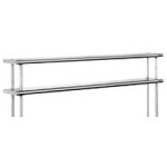"10"" x 36"" 16/430 Stainless Steel, Flex-Master® Overself for Stainless Steel Worktables, #SMS-88-411036"