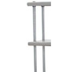 "18"" Chrome Post for Flex-Master® Overshelf System for Stainless Steel Worktables, #SMS-88-418202"