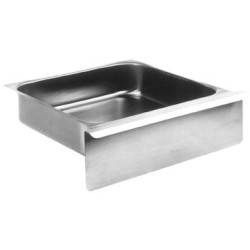 "20"" x 20"" Utility Drawer with Pull Flange and Pull Front - Stainless Steel Construction, Guides and Rollers Included, #SMS-88-501571"