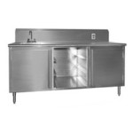 "30"" x 144"" Spec-Master® Beverage Counter with Rolled Front Edge and Sink On Left End, #SMS-88-BEV30144SE-10BS/L"