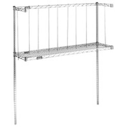 "14"" x 96"" Table Mounted Boat Rack. Includes: Pair of 54"" Posts. One 3-Sided Truss Frame. One Wire Shelf. Leg/Gusset Clamp Brackets, Included, Allow for Overshelf Legs To Attach, #SMS-88-BRT8"