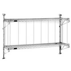 "14"" x 60"" Wall Mounted Boat Rack. Includes: Pair of 33"" Posts. Two Wire Shelves. Two Pairs of Shelf Brackets, #SMS-88-BRW5"