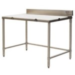 "36"" x 120"" Boning Table, 4 Polyboard, #SMS-88-BT36120S"