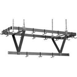 "124"" Aluminum, Ceiling Mounted Rack, Fits 132"" Table, #SMS-88-CM132APR"