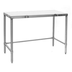 "24"" x 96"" Cutting Table with Flat Top, #SMS-88-CT2496S"
