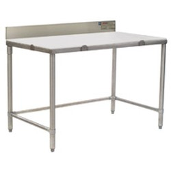 "24"" x 96"" Cutting Table with 4-1/2"" Backsplash, #SMS-88-CT2496S-BS"