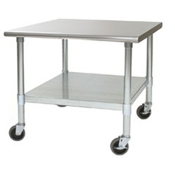 "24"" x 30"" Stainless Steel Mobile Equipment Stand, #SMS-88-MET2430S"