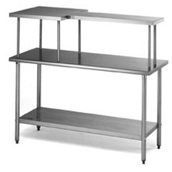 "12"" x 60"" Table Mounted Shelf, Center Model, #SMS-88-MOS1260C"