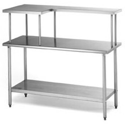 "12"" x 60"" Table Mounted Shelf, Left Side Model, #SMS-88-MOS1260L"
