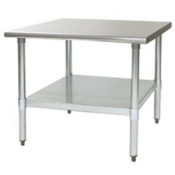 "24"" x 24"" Mixer Stand, Galvanized Legs and Adjustable Undershelf, #SMS-88-MS2424"