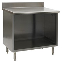 "24"" x 36"" Spec-Master® Enclosed Worktable with Backsplash and Open Front, #SMS-88-OB2436SE-BS"