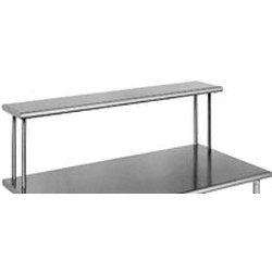 "10"" x 48"" 16/3 Gauge, Single Deck Non-Adjustable Overshelf, #SMS-88-OS1048-16/3"