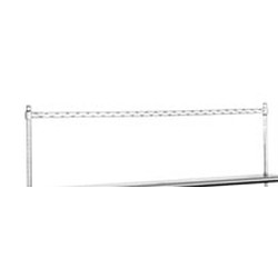 "144"" Chrome Utility Rack for Flex-Master® Overshelf System for Stainless Steel Worktables. Provided In Three Sections, #SMS-88-PRT144-C"