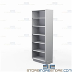 Stainless Shelving Solid Shelves | Tall Stainless Open Face Shelf