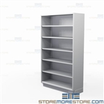 Solid Stainless Open Shelving | Tall Open Commercial Stainless Cabinet