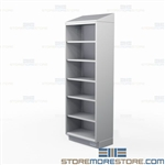 Stainless Shelving Sloped Tops | Tall Commercial Open Cabinet