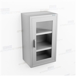 Slim Wall Hung Stainless Casework | Wide Wall Steel Cupboard