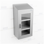Slim Overhead Stainless Cabinet | Narrow Wall Steel Casework
