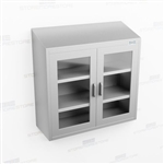 Stainless Overhead Casework | Wide Wall Mount Steel Casework