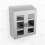 Overhead Mount Stainless Cabinet | Industrial Wall Casework