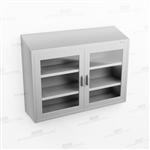 Wide Wall Stainless Casework | Industrial Wall Shelf Cabinet