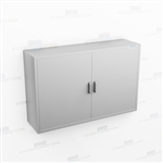 Wide Overhead Stainless Casework | Wall Hung Steel Cupboard