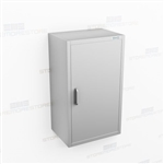 Slim Wall Hung Stainless Cabinet | Kitchen Overhead Casework