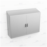 Wide Wall Mount Stainless Cabinet | Stainless Steel Casework