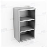 Open Slim Stainless Wall Cabinet | Commercial Wall Casework