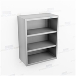 Open Stainless Wall Cabinet | Wide Wall Mount Steel Cupboard