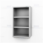 Open Wall Stainless Casework | Slim Wall Mount Steel Cabinet