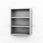 Open Stainless Storage Cabinet | Lab Steel Overhead Casework