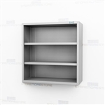 Open Wall Hung Stainless Cabinet | Steel Stainless Casework
