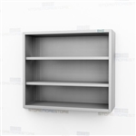 Open Wall Hung Stainless Casework | Steel Shelving Cabinet