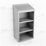 Open Slim Stainless Wall Casework | Wall Hung Steel Cabinet
