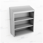 Open Stainless Storage Casework | Overhead Wall Hung Cabinet