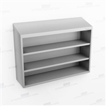 Open Wall Mount Stainless Cabinet | Steel Overhead Shelving