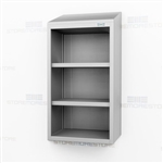 Open Narrow Stainless Wall Cabinet | Slim Overhead Casework