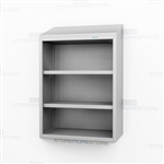 Open Medical Wall Stainless Cabinet | Steel Storage Shelving