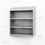 Open Overhead Mount Stainless Cabinet | Wall Hung Cupboard